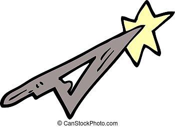 cartoon doodle scalpel blade
