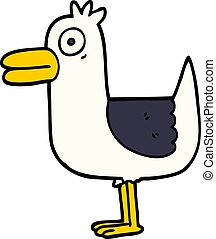 cartoon doodle sea gull