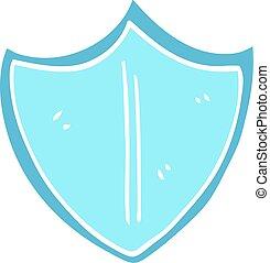 cartoon doodle shield