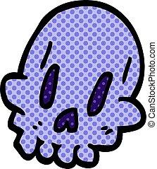 cartoon doodle spooky weird skull