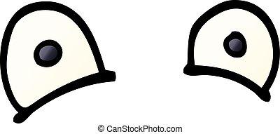 cartoon doodle staring eyes