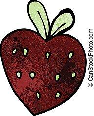cartoon doodle strawberry fr