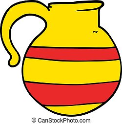 cartoon doodle striped jug