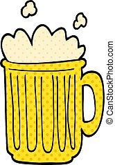 cartoon doodle tankard of beer
