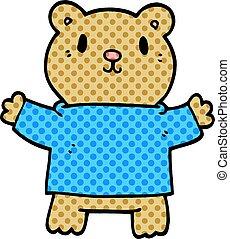 cartoon doodle teddy bear