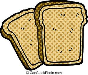 cartoon doodle toast