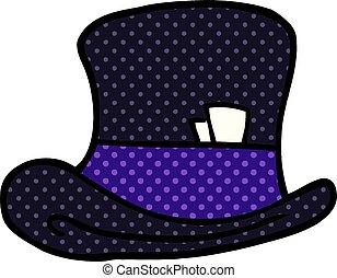 cartoon doodle top hat
