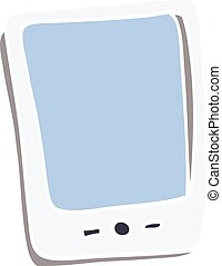 cartoon doodle touch screen mobile