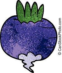 cartoon doodle turnip