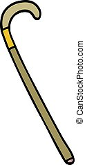 cartoon doodle walking stick