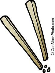 cartoon doodle wooden chopsticks