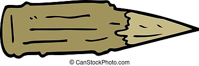 cartoon doodle wooden stake