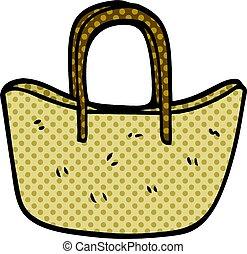 cartoon doodle woven basket