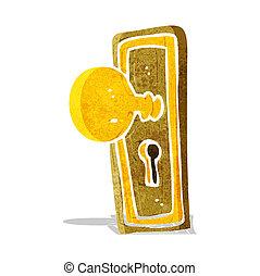 cartoon door knob