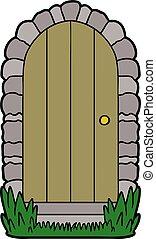 cartoon doorway