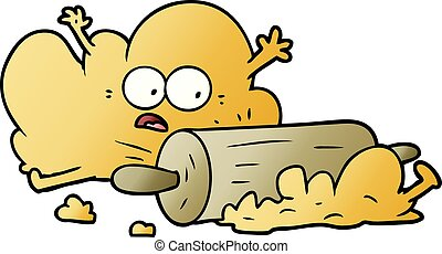 cartoon dough being rolled out