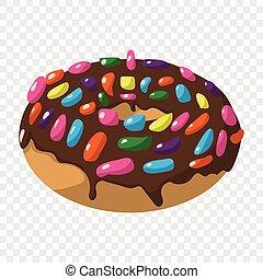 Cartoon doughnut sign