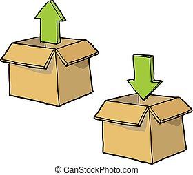Cartoon download box