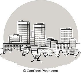 Cartoon Downtown
