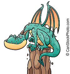 Dragon - Cartoon Dragon