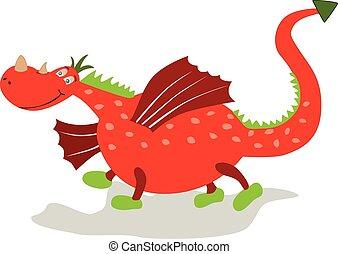 Cartoon dragon.