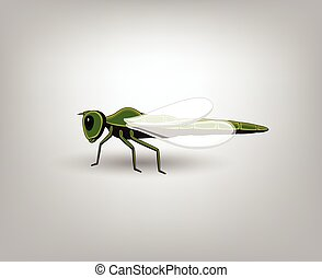 Dragonfly Vector Insect - Cartoon Dragonfly Vector Insect...