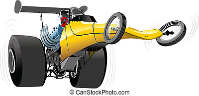 Cartoon dragster isolated on white background. Available...