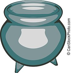 Cartoon drawing of a clay pot. Vector illustration