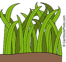 cartoon drawing of blades of green grass