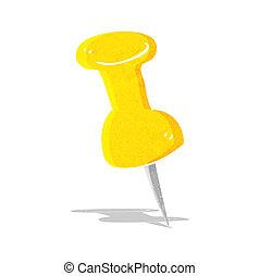 cartoon drawing pin