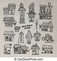 fairy tale houses set