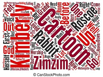 Cartoon Dreams text background wordcloud concept