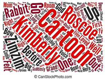 Cartoon Dreams Word Cloud Concept Text Background