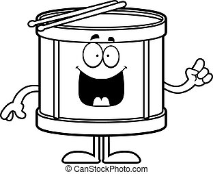 Cartoon Drum Idea - A cartoon illustration of a drum with an...