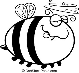Cartoon Drunk Bee