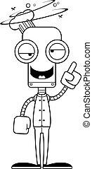 Cartoon Drunk Chef Robot