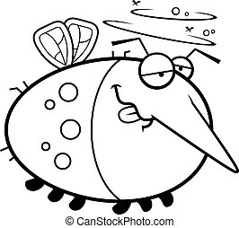 Cartoon Drunk Mosquito