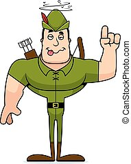 Cartoon Drunk Robin Hood