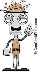 Cartoon Drunk Zookeeper Robot - A cartoon zookeeper robot...
