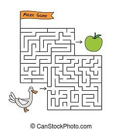 Cartoon Duck Maze Game