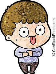 cartoon dumb kid