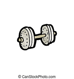 cartoon dumbell