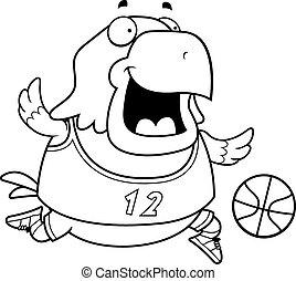 Cartoon Eagle Basketball