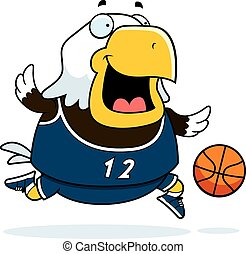 Cartoon Eagle Basketball