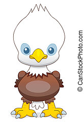 Cartoon eagle - Vector illustration of Cartoon eagle