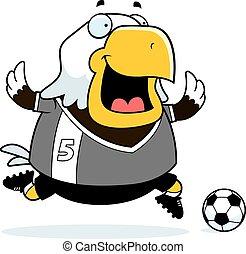 Cartoon Eagle Soccer
