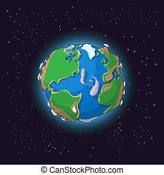 Cartoon earth concept