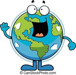 Cartoon Earth Happy