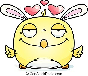 Cartoon Easter Bunny Chick in Love