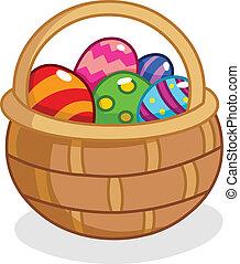 Easter egg basket - Cartoon Easter egg basket